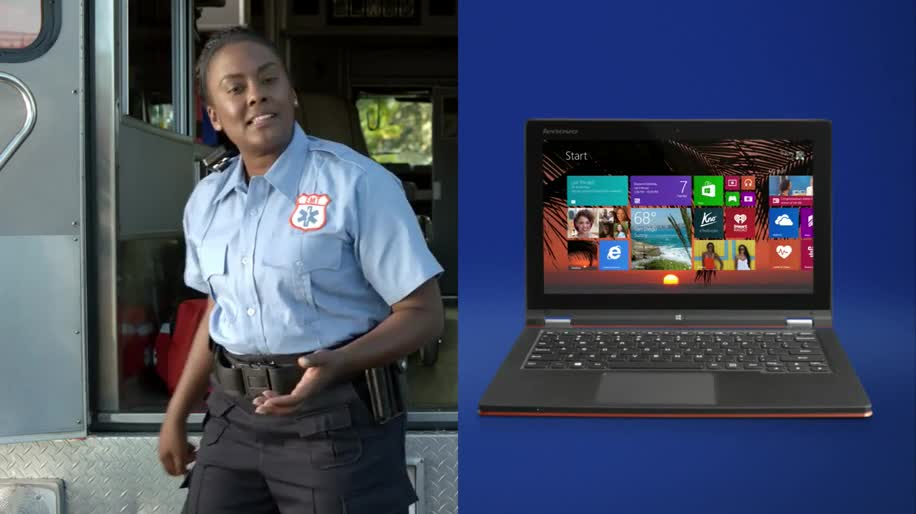 Microsoft, Tablet, Windows 8, Werbespot, Laptop, Two-in-One-PC