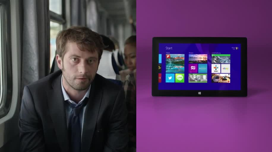 Microsoft, Windows, Tablet, Windows 8, Apps, Surface, Werbespot, Microsoft Surface, Touchscreen, Surface 2