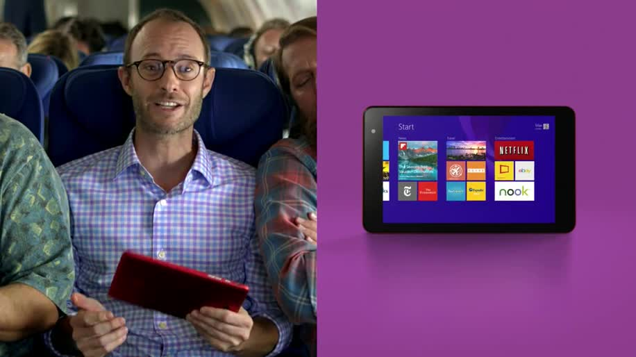 Microsoft, Betriebssystem, Windows, Tablet, Windows 8, Werbespot, Two-in-One-PC