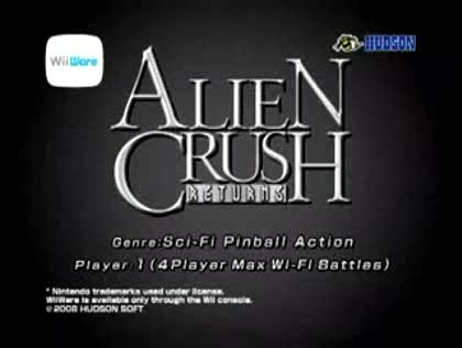 Nintendo, Wii, Alien Crush Returns