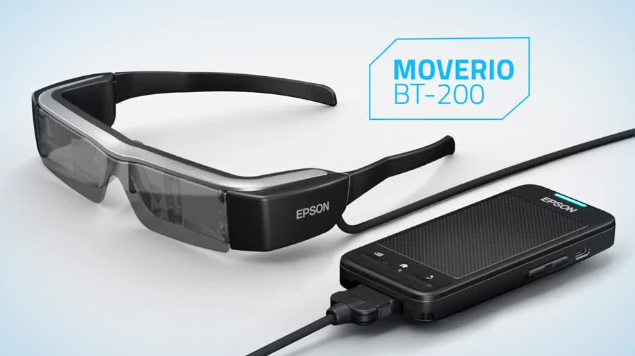 Android, Ces, Augmented Reality, Cyberbrille, Augmented-Reality, Datenbrille, Ces 2014, Epson, Moverio, BT-200, Epson Moverio, Epson Moverio BT-200