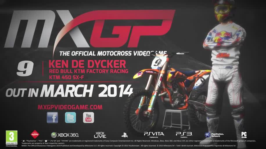 Trailer, Rennspiel, Milestone, MXGP - The Official Motocross Videogame, MXGP, Pqube Games, Motocross, Ken De Dycker