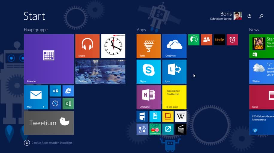Microsoft, Betriebssystem, Windows, Windows 8, Apps, Windows 8.1, Desktop, Build, Benutzeroberfläche, Windows 8.1 Update 1, Taskleiste, Build 2014, Kacheln, Startbildschirm, Boris Schneider-Johne