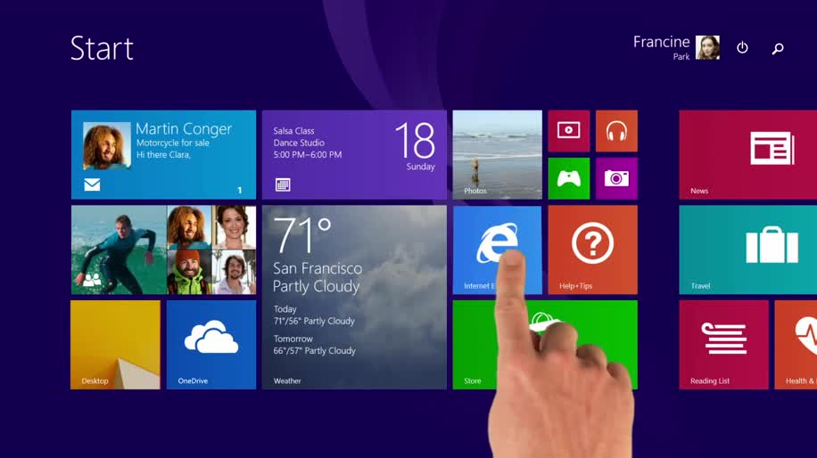 Microsoft, Betriebssystem, Windows, Windows 8, Apps, Windows 8.1, Windows Store, Kacheln, Startbildschirm