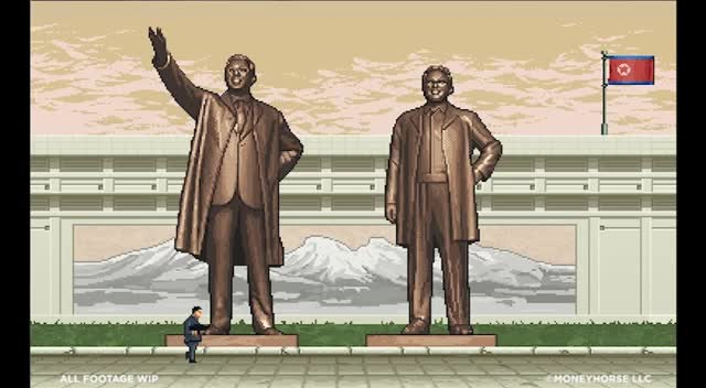 Trailer, Shooter, Kim Jong-un, Glorious Leader, Moneyhorse Games