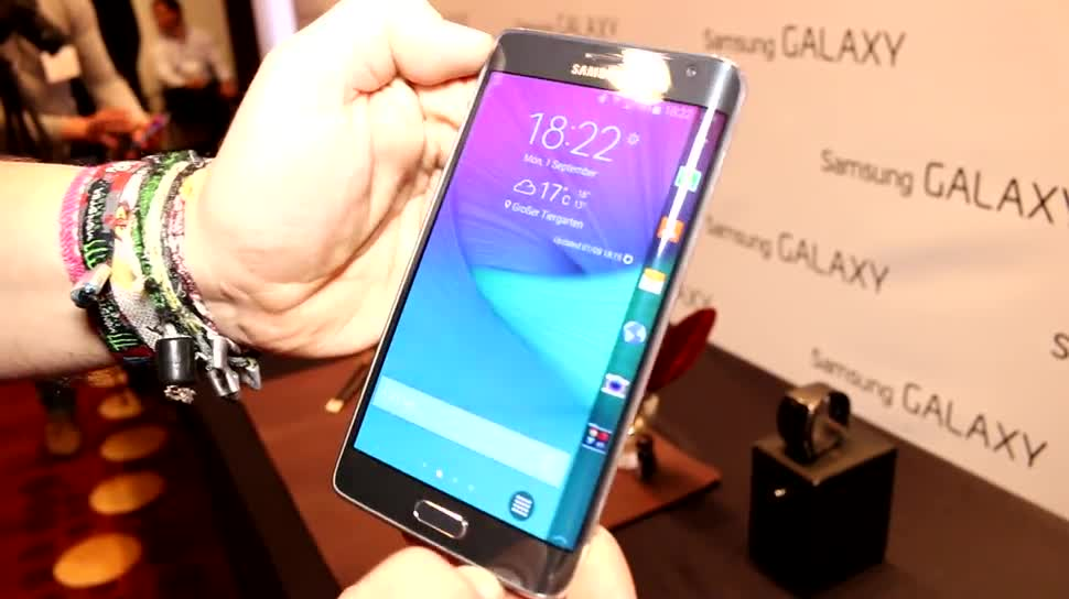Samsung, Ifa, Hands on, Phablet, IFA 2014, Samsung Galaxy Note Edge, Galaxy Note Edge