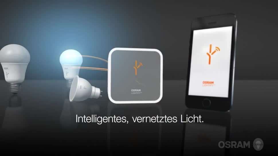 lightify osram startet lampen serie mit smartphone steuerung. Black Bedroom Furniture Sets. Home Design Ideas