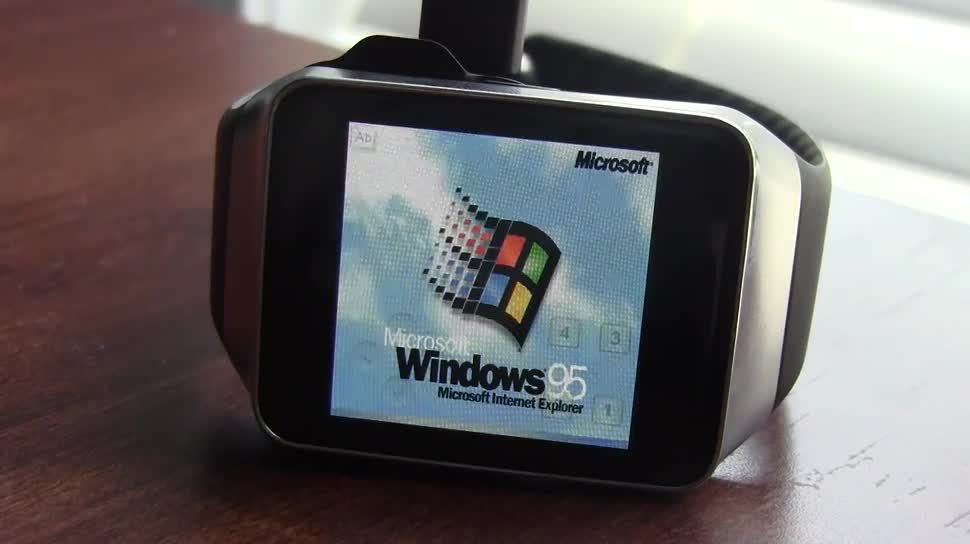 Samsung, smartwatch, Windows 95, Gear Live, Corbin Davenport