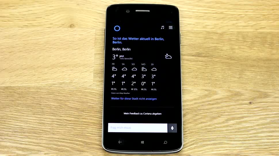 Microsoft, Smartphone, Betriebssystem, Windows Phone, Test, Hands-On, Windows Phone 8.1, Cortana, Sprachassistent, Hands on, Sprachsteuerung, Spracherkennung, Review, Demo, Spracheingabe, Microsoft Cortana, Windows Developer Preview, Prestigio MultiPhone 8500 DUO, Windows Phone Developer Preview