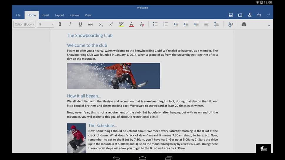 Microsoft, Android, Tablet, Office, Word, Office für Android, Office for Android, Word for Android, Word für Android
