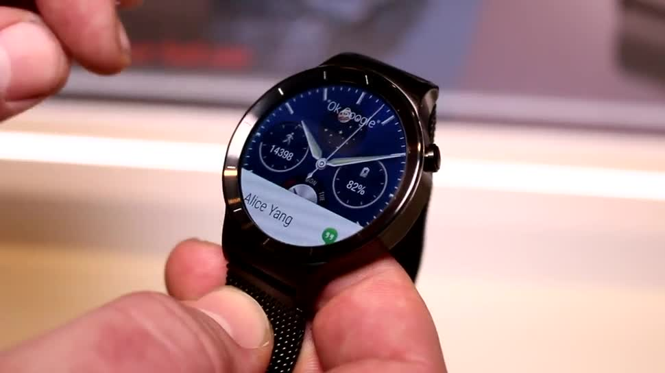 smartwatch, Huawei, Hands-On, Uhr, Mobile World Congress, MWC 2015, Huawei Watch