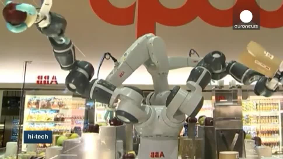 Roboter, EuroNews, Supermarkt, Lebensmittel, Massachusetts Institute of Technology, Expo, Bordcomputer, Expo 2015, Mailand, Weltausstellung, Future Food District, Coop Italia