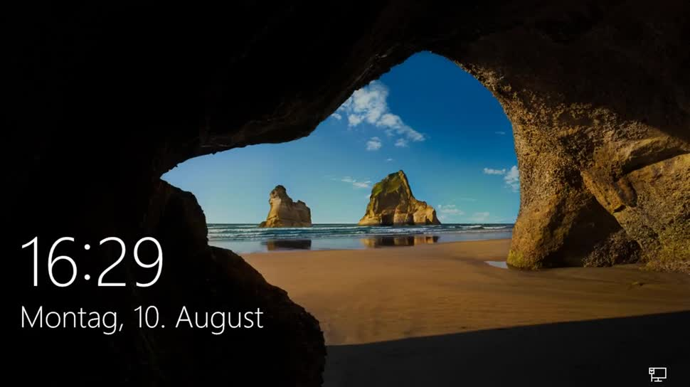 Microsoft, Betriebssystem, Windows 10, SemperVideo, Lock-Screen