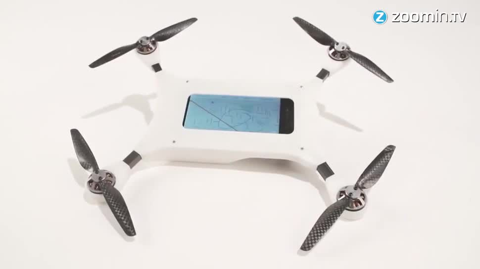 Smartphone, Zoomin, Drohne, Drohnen, Quadcopter, PhoneDrone Ethos