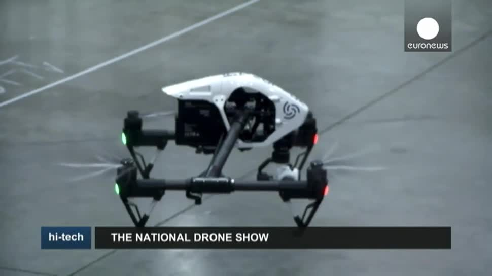 Wirtschaft, Drohne, Drohnen, EuroNews, Drohnen-Messe, National Drone Show, Tornado H920, Intelligentuas, Yumee Electric Aviation