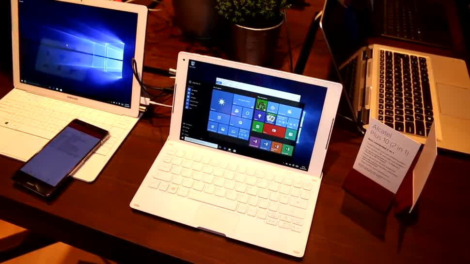 Windows 10, Tablet, Hands-On, Mwc, 2-in-1, Mwc 2016, Alcatel, TCL, 2-in-1-Tablet, Alcatel Plus 10, Plus 10