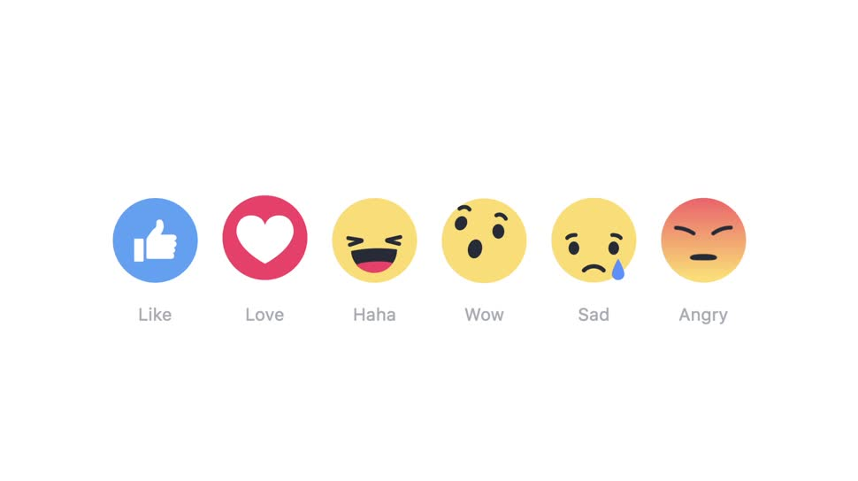 Facebook, Social Network, Gef�llt mir, Like, Emojis, Reactions