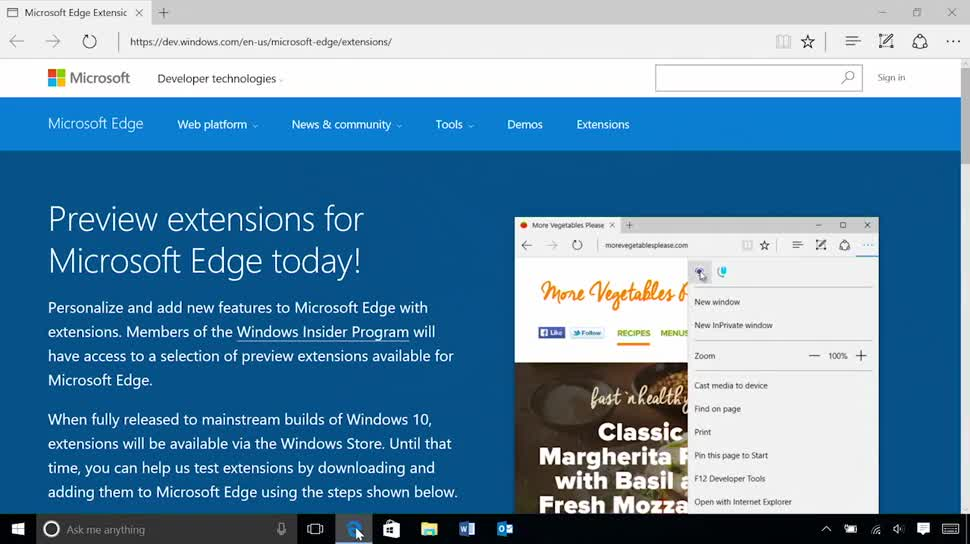 Microsoft, Betriebssystem, Windows, Windows 10, Browser, Windows 10 Insider Preview, Insider Preview, Edge, Microsoft Edge, Insider, Erweiterungen, Extensions