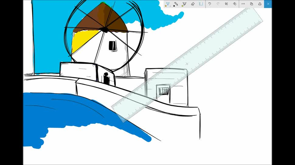Microsoft, Tablet, Windows 10, Surface, Microsoft Surface, Insider Preview, Windows 10 Insider Preview, Surface Pro, Microsoft Surface Pro, Stylus, Stift, PEN, Windows Ink, Windows 10 Build 14328, Lineal, Sticky Notes, Windows Ink Workspace, Sketchpad, Screen Sketch