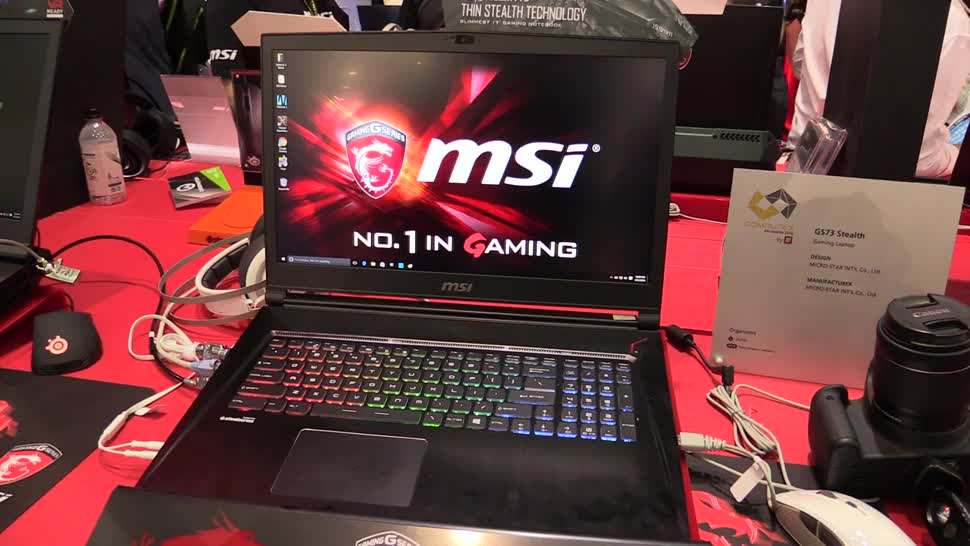 Notebook, Nvidia, Hands-On, Hands on, Computex, Computex 2016, NewGadgets, MSI GS73 Stealth, MSI GS73, GS73 Stealth, GS73, GTX 970M