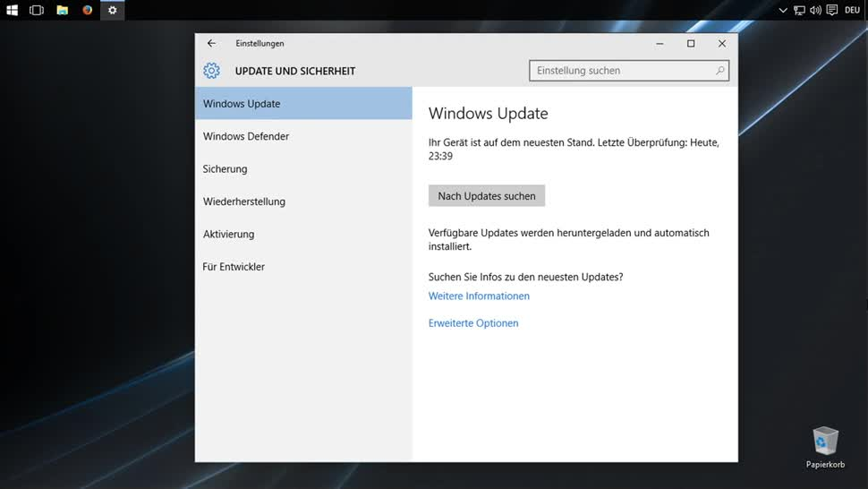 letzter windows 10 update