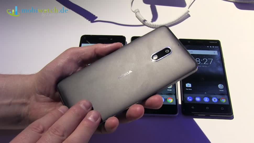 Smartphone, Android, Nokia, Hands-On, Mwc, Hands on, Lutz Herkner, Mobile World Congress, MWC 2017, Nokia 6, Nokia 5, Mobiwatch, Nokia 3