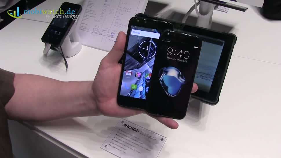 Smartphone, Android, Tablet, Hands-On, Mwc, Hands on, Lutz Herkner, MWC 2017, Archos, Mobiwatch, Archos 101 Saphir, Archos 50 Graphite, 50 Graphite, Archos 55 Graphite, 55 Graphite, 101 Saphir