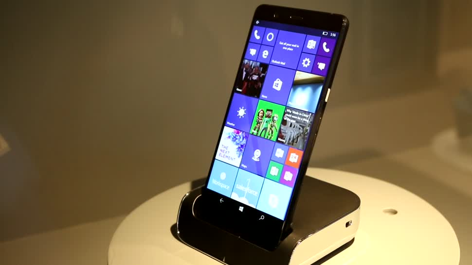 Smartphone, Windows 10, Windows Phone, Smartphones, Video, Windows 10 Mobile, Hp, Mwc, Mobile World Congress, Windows Mobile, MWC 2017, Business, Flaggschiff, HP Elite x3, Gerät, Elite X3, Ausstellung, Elite x4, HP Elite x4