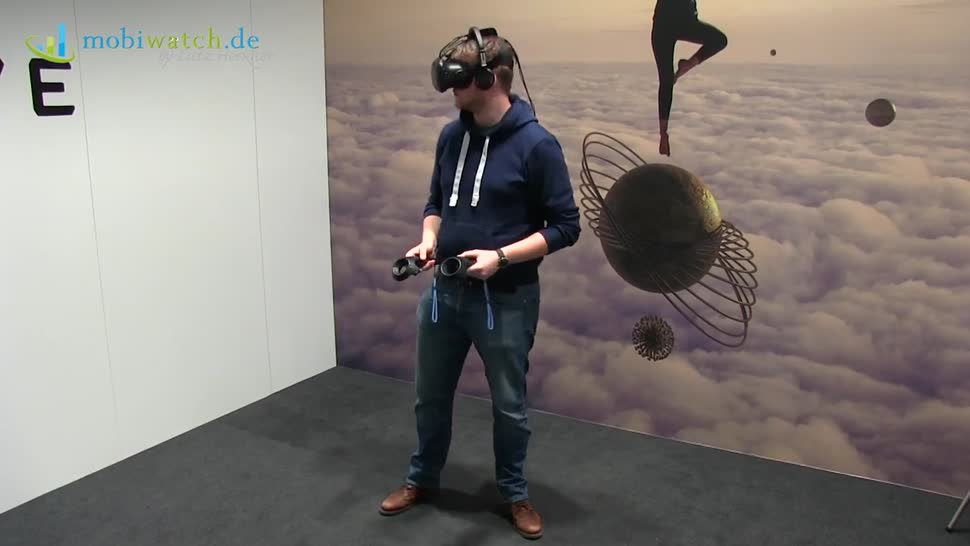Htc, Virtual Reality, Mwc, Lutz Herkner, MWC 2017, VR-Brille, HTC Vive, VR-Headset, Tracker, TP Cast