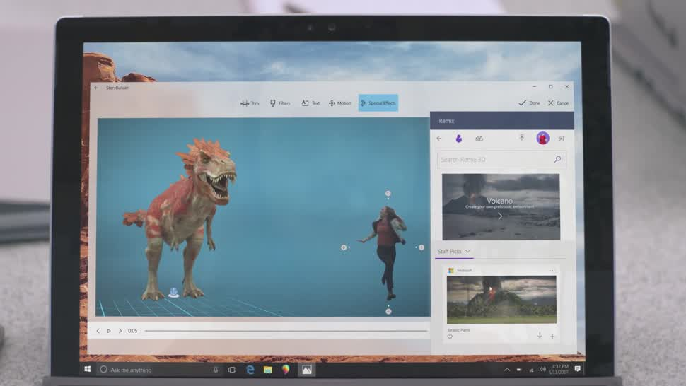 Windows 10, App, Build, BUILD 2017, Videobearbeitung, Story Remix