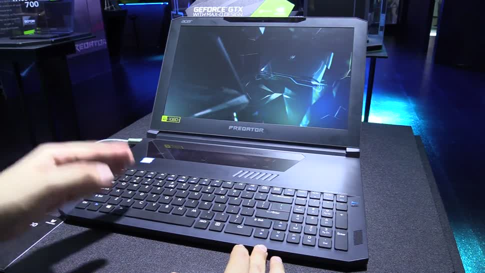 Notebook, Hands-On, Acer, Computex, NewGadgets, Computex 2017, Johannes Knapp, Gaming-Notebook, Acer Predator, Acer Predator Triton 700, Acer Predator Triton, Predator Triton 700, Predator Triton