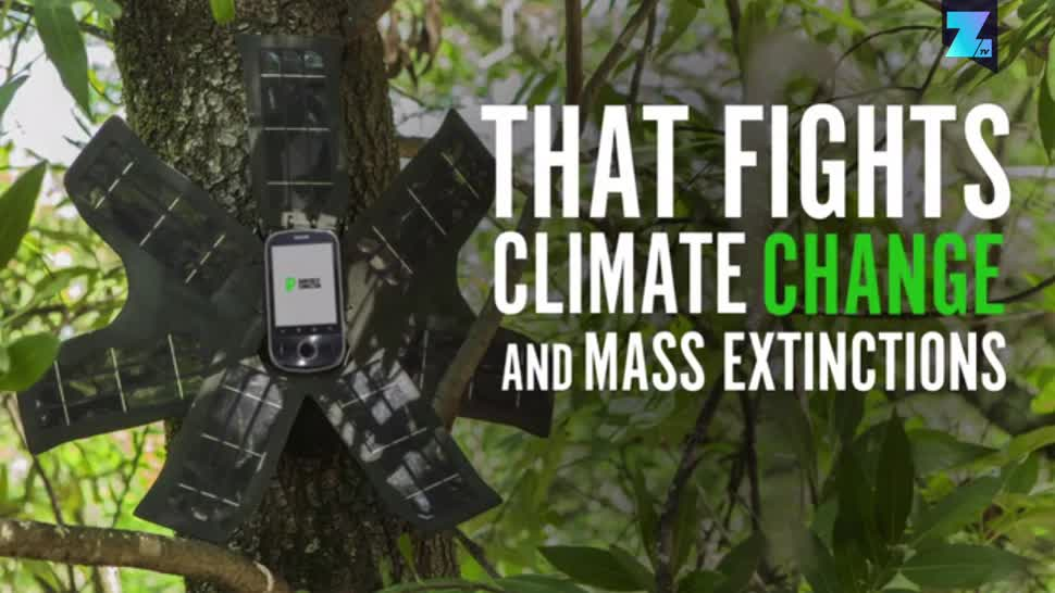 Smartphone, Zoomin, Kickstarter, Crowdfunding, Naturschutz, Klimawandel, Rainforest Connection