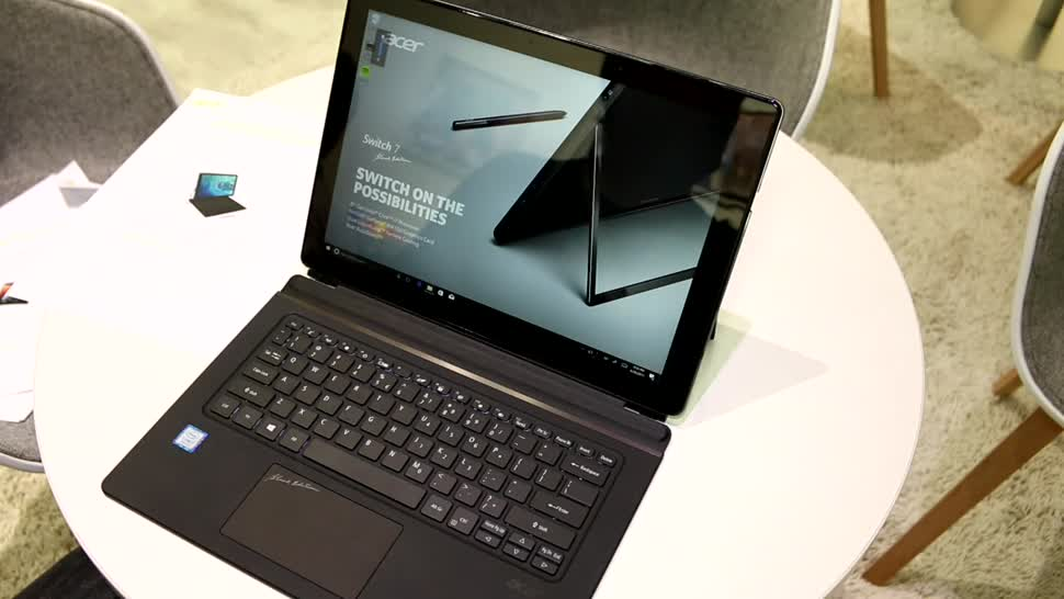 Video, Laptop, Hands-On, Hardware, Ifa, Acer, Hands on, Präsentation, IFA 2017, Acer Switch 7 Black Edition, Acer Switch 7, Angeschaut