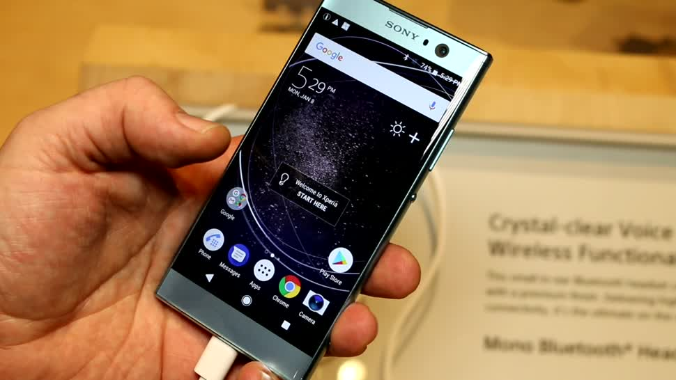 xperia xa2 sonys neues mittelklasse smartphone mit 23 mp. Black Bedroom Furniture Sets. Home Design Ideas