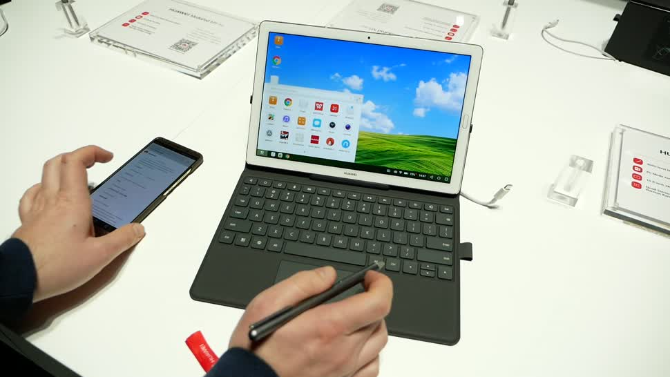 Smartphone, Android, Huawei, Hands-On, Mwc, Hands on, Mobile World Congress, Daniil Matzkuhn, MWC 2018, Mobile World Congress 2018, Huawei MediaPad M5 Pro, MediaPad M5 Pro