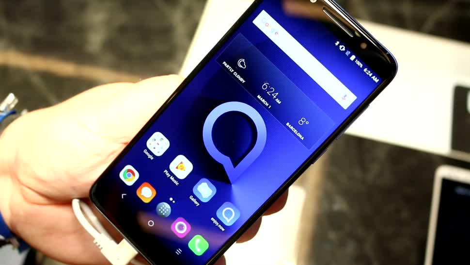 Smartphone, Android, Hands-On, Mwc, Hands on, Mobile World Congress, MWC 2018, Alcatel, Einsteiger, Einsteiger-Smartphone, TCL, 18:9-Format, Alcatel 3X