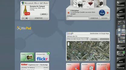 Android, Apple, Tablet, Ipad, Linux, Interface, Web, Demo, WePad, Neofonie