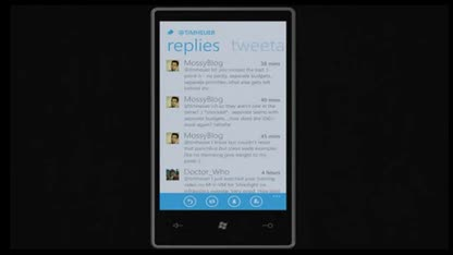 Microsoft, Windows Phone 7, Twitter