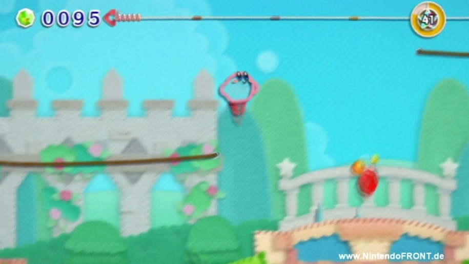 Gameplay, Kirby's Epic Yarn, Kirby