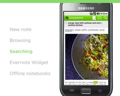Android, Notizen, Evernote