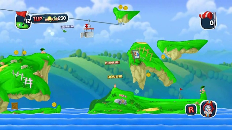 Trailer, Worms Crazy Golf