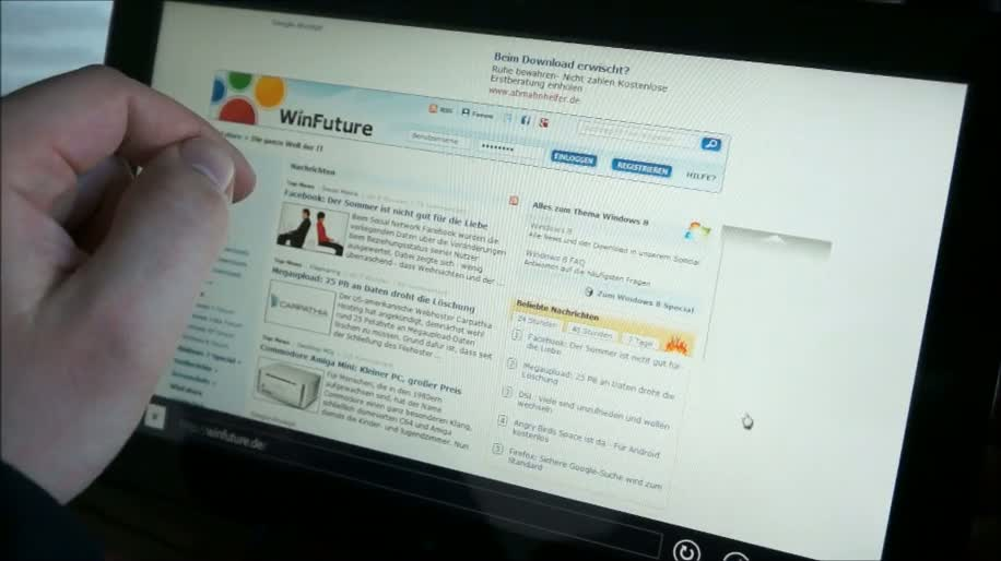 Microsoft, Tablet, Windows 8, Samsung, Touchscreen, Winfuture, Touch, Demo, Hands-On, Slate