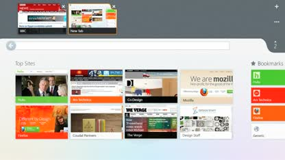 Microsoft, Windows 8, Browser, Firefox, Mozilla, Design, Interface, Metro, Touch, Konzept, Entwurf, Firefox Metro