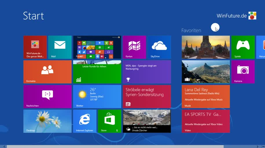 Microsoft, Betriebssystem, Windows 8, Metro, Windows 8 Rundgang, Charmbar
