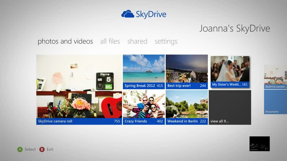 Microsoft, Xbox 360, Cloud, Xbox Live, Cloudsynchronisation, Cloud Drive, Skydrive