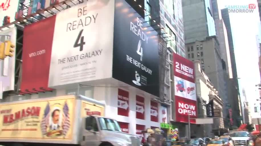 Samsung, Teaser, Samsung Galaxy S4, Event, Galaxy S4, New York, Unpacked, Times Square