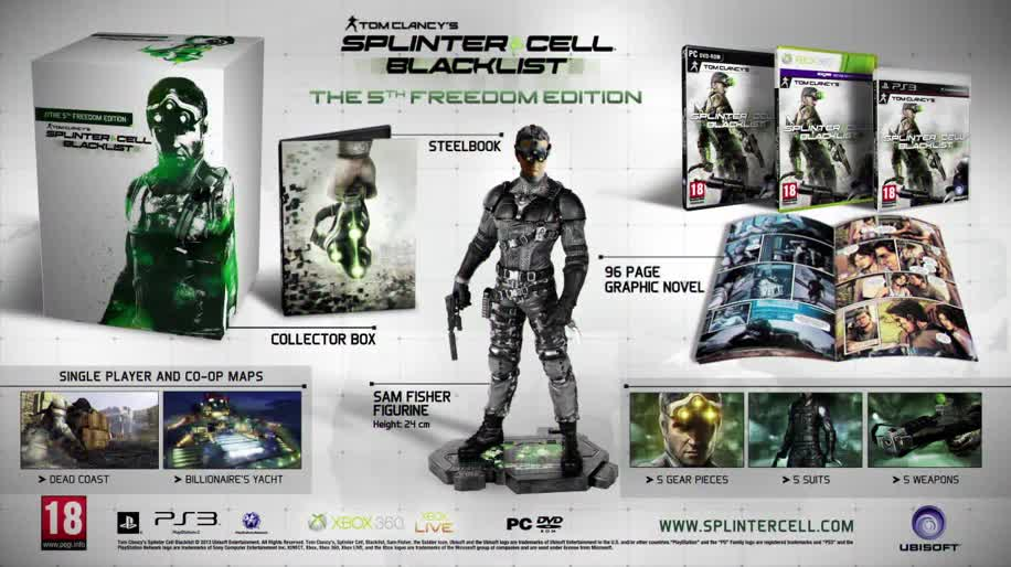 Ubisoft, Splinter Cell, Sam Fisher, Splinter Cell: Blacklist, Blacklist