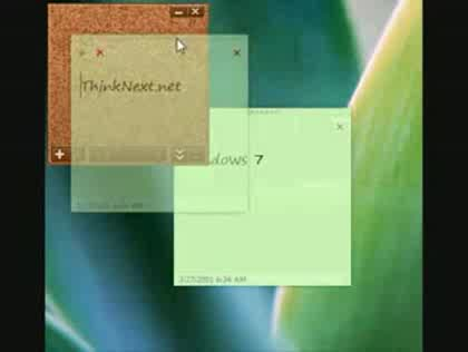 Microsoft, Windows 7, Sticky Notes