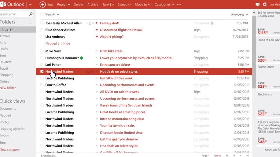 Microsoft, E-Mail, Mail, Outlook, outlook.com, Webmail, Inbox
