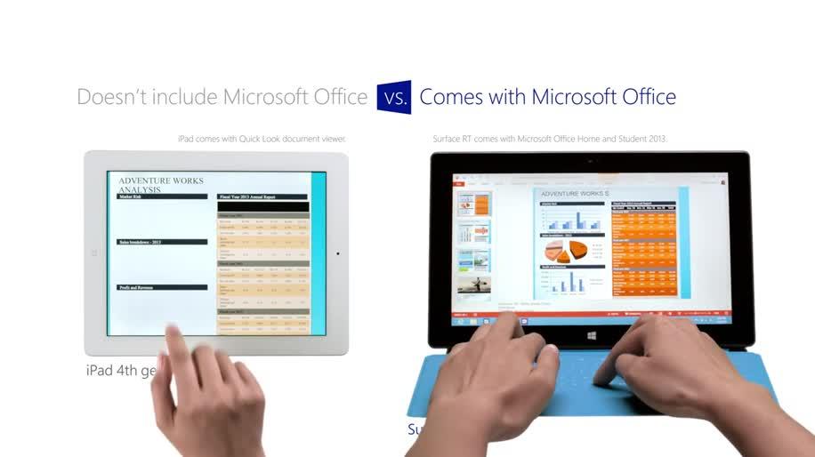 Microsoft, Apple, Windows, Tablet, Windows 8, Ipad, Surface, Microsoft Surface, Windows RT, Apple Ipad, Surface RT